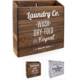 Magnetic Lint Bin for Laundry Room (Torch Dark Brown)