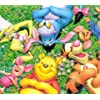 ディズニー - お花畑でお昼寝をする くまのプーさん達。 Android(960×854)待ち受け 3338