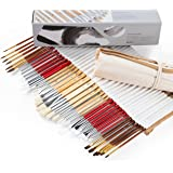 Artify 38 Pcs Paint Brushes Art Set for Acrylic Oil Watercolor Gouache| a Kit of Hog Pony and Nylon Hairs |Including Two Larg