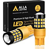 Alla Lighting 39-SMD 7443 7440 T20 High Power 2835 Chipsets Xtremely Super Bright Amber Yellow LED Bulbs for Turn Signal Ligh