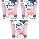 Glade Scented Candle - Angel Whispers - Infused With Essential Oils - Net Wt. 3.4 OZ (96.3 g) Per Candle - Pack of 3 Candles