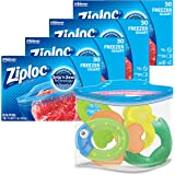 Ziploc Freezer Bags with New Grip 'n Seal Technology, Quart, 30 Count, Pack of 4 (120 Total Bags)