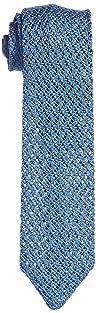 Solid Silk Knit Tie 118-23-2420: Blue
