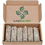 "Sarimoire Sage Bundles - 6-4"" Blue Sage Smudge Sticks - Perfect Sage Stick Smudge Sticks Smudging Kit Replenishment"