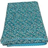 Indian Hand made Kantha Blanket , Bedspread , Bedding Sheet , Kantha quilt , Queen bedspreads , Bohemian Bedspread , Bohemian