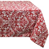 "DII 100% Cotton, Machine Washable, Everyday Damask Kitchen Tablecloth for Dinner Parties, Summer & Outdoor Picnics - 60x84"" S"