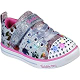 Skechers Unisex-Child Sparkle Lite-Princessland Sneaker