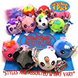 Squeezamals Squishamals Series 2 Scented 3-Inch Clip On Surprise Mystery Plush Gift Set Blind Bundle with Exclusive Matty's T