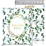 Pack It Chic - 10X13 (100 Pack) Geometric Leaves Pattern - Thank You Poly Mailer Envelope Plastic Custom Mailing & Shipping B