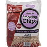 Camerons Products Smoking Chips - (Alder) Kiln Dried, Natural Extra Fine Wood Smoker Sawdust Shavings - 2 Pound Bag Barbecue