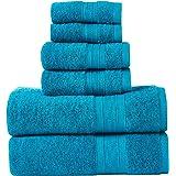 TRIDENT Soft & Plush Towels Pack of 6 Towels - 2 Extra Large Bath (76*137cm), 2 Large Hand (41*66cm), 2 WASH Cloths (30*30cm)