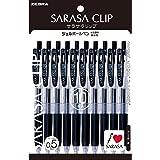 ゼブラ ジェルボールペン サラサクリップ 0.5 黒 10本 P-JJ15-BK10
