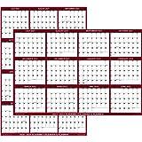"""18"""" x 24"""" SwiftGlimpse 2020-2021 Academic Wall Calendar Dry Erase Erasable, Large, Wet & Dry Erase Laminated, June - July Yea"""