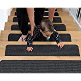 BRITOR Non Slip Carpet Stair Treads, Set of 15, Rug Non Skid Runner for Grip and Beauty. Safety Slip Resistant for Kids, Elde
