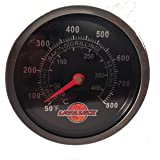 LavaLock® BBQ Temperature Gauge Charcoal Grill Pit Thermometer Fahrenheit Black Smoker Barbeque 2-3/8 Face