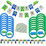 Garbage Truck Party Supplies - 73 Pieces - Trash Truck Birthday Party Includes Garbage Truck Plates - Garbage Truck and Recyc