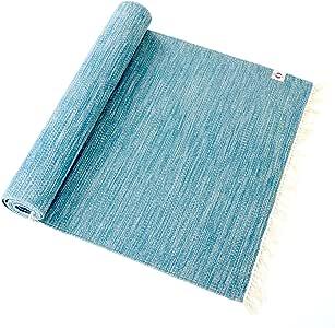 【MUKU + Organic Weave】オーガニックコットン ヨガラグ (GOTS認証付き) (Waves(藍染ミックス), 195)