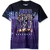Liquid Blue Mens 11907-Multi-XX-Large Kiss Kiss Destroyer Tie Dye Glow in The Dark Short Sleeve T-Shirt T-Shirt