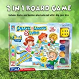 """2 in 1 Giant Snakes & Ladders and Ludo 