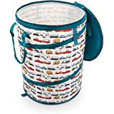 """Camco Tear Resistant Pop Up Utility Container, Can Be Used as a Collapsible Storage or Toy Bin 18"""" x 24"""" Life Is Better at Th"""