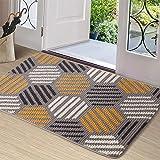 """Color&Geometry Doormat, Indoor Outdoor Waterproof, Non Slip Washable Quickly Absorb Moisture and Resist Dirt Rugs(24""""x36"""")"""