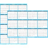 """24"""" x 36"""" SwiftGlimpse 2021 Wall Calendar Erasable Large Wet & Dry Erase Laminated 12 Month Annual Yearly Wall Planner, Rever"""