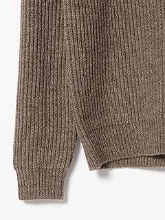 Wool Pullover Shawl Collar Sweater 11-15-0883-103: Brown