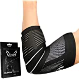 Venom Strapped Elbow Brace Compression Sleeve - Elastic Support, Tendonitis Pain, Tennis Elbow, Golfer's Elbow, Arthritis, Bu