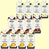 ベターシェイク プロテインミルクシェイク【バニラ4本・カフェラテ4本・チョコレート4本】合計12本セット 330ml x 12本 ミルクプロテイン Better Shake Protein Milk Shake ( Milk Protein )