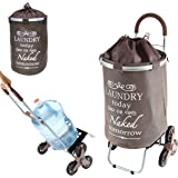 Laundry Trolley Dolly, Brown, Stair Climber
