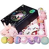 STEAM RISING | Magical Unicorn Spa Kit: Unicorn Bath Bombs, Surprise Unicorn Toy, Unicorn Sleep Mask & Loofah | Excellent Gir