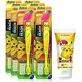 【まとめ買い】REACH リーチ® キッズ歯ブラシフィギュア付き6個+ピカチュウ歯磨き粉60g