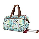 Lily Bloom Luggage Designer Pattern Suitcase Wheeled Duffel Carry On Bag (14in, Aquarium Life)