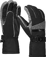 Terra Hiker スキーグローブ 撥水 防風 スノボー グローブ 保温 滑り止め 5本指タイプ 登山 防寒グローブ スキー アウトドア 3M極細断熱素材 ウィンタースポーツ 手袋