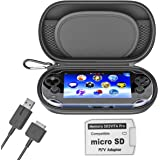 Skywin Kit for PS Vita - PS Vita Carry Case, Charging Cable, and Micro SD Memory Card Adapter Compatible with PS Vita 1000/20