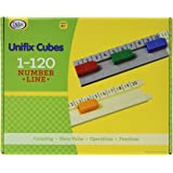 Didax Educational Resources UNIFIX 1-120 Number Line Track, 9.13 x 11.31 x 1 in , Multi (211504)