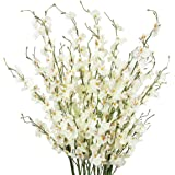 TYEERDEC Artificial Flowers 10 Pieces Artificial Dancing Lady Orchid Oncidium Silk Orchid for Wedding Home Office Decoration