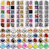 Nail Art Stickers and Decals 5 boxes Nail Art Rhinestones& 3 box nail foil chip