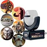 Projectables Mandalorian LED Night Light, 6, Star Wars, Plug-in, Dusk to Dawn, UL-Listed, Image on Ceiling, Wall, or Floor, I