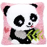 Beyond Your Thoughts DIY Latch Hook Kits Cute OWL Rug Pattern Printed 16X16 inch, Crochet Needlework Crafts for Kids and Adul