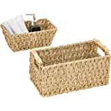 Artera Small Wicker Basket Set for Bathroom, Handwoven Seagrass Basket for Toilet Paper, Hand Towels, toiletries in The Bathr