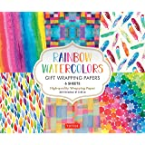 Watercolors Gift Wrapping Papers: 6 Sheets of High-Quality Wrapping Paper 24 x 18 inches | 61 x 45 cm