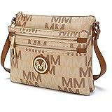 MKF Crossbody bag for women - Adjustable Strap - Vegan leather Shoulder Bag - Small Designer messenger Purse