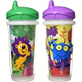 Playtex Sipsters Stage 3 Spill-Proof, Leak-Proof, Break-Proof Insulated Spout Sippy Cups - 9 Ounce - 2 Pack (Color and Design