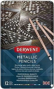 Derwent ダーウェント メタリック ペンシル 油性色鉛筆 12色 セット 2305599