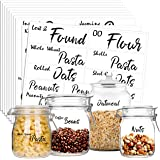 Hebayy 231 Pcs Clear Pantry Labels Set for Kitchen Restaurant Storage Organization Water Resistant with 7 Sizes Customizable