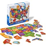 Learning Resources LER7714 Magnetic U.S. Map Puzzle Set (45 Piece),44 Pieces,Multicolor