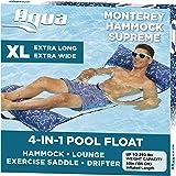 Aqua 4-in-1 Monterey Hammock XL (Longer/Wider) Resort Quality Soft Fabric Inflatable Pool Chair, Multi-Purpose Adult Pool Flo