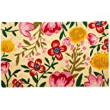 DII Indoor/Outdoor Natural Coir Fiber Spring/Summer Doormat, 18x30, Bright Blossom