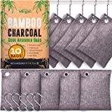 Nature Fresh Bamboo Charcoal Air Purifying Bags 10 x 100g Pack. Activated Natural Home Odor Absorber, Deodorizer and Moisture